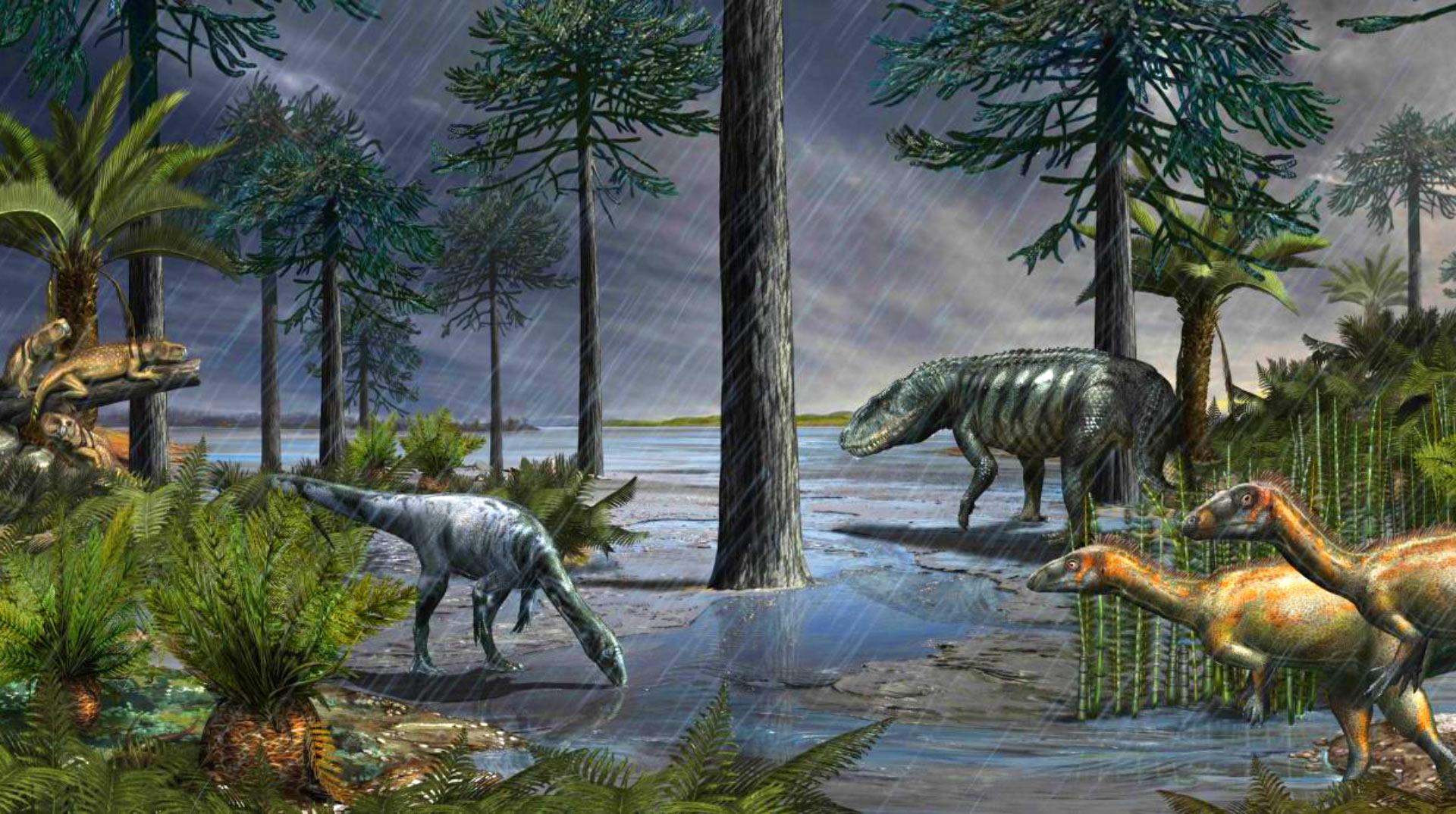 Триасовый период животные картинки