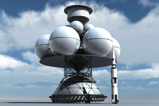 Ракета-носитель проекта Daedalus в сравнении с ракетой Сатурн-V