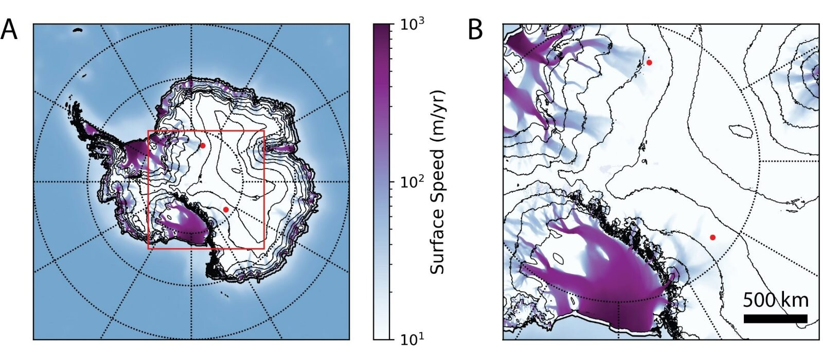 Поток нейтрино в антарктиде