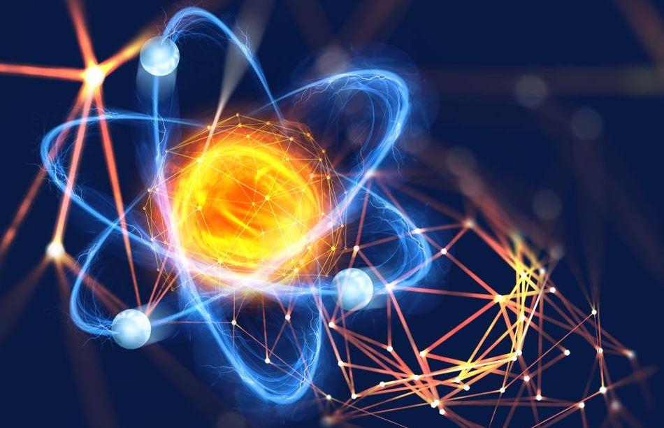атом, кварки