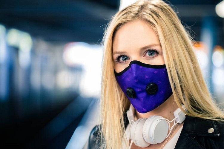 маска с клапаном женщина