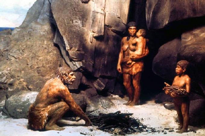 Семья неандертальцев