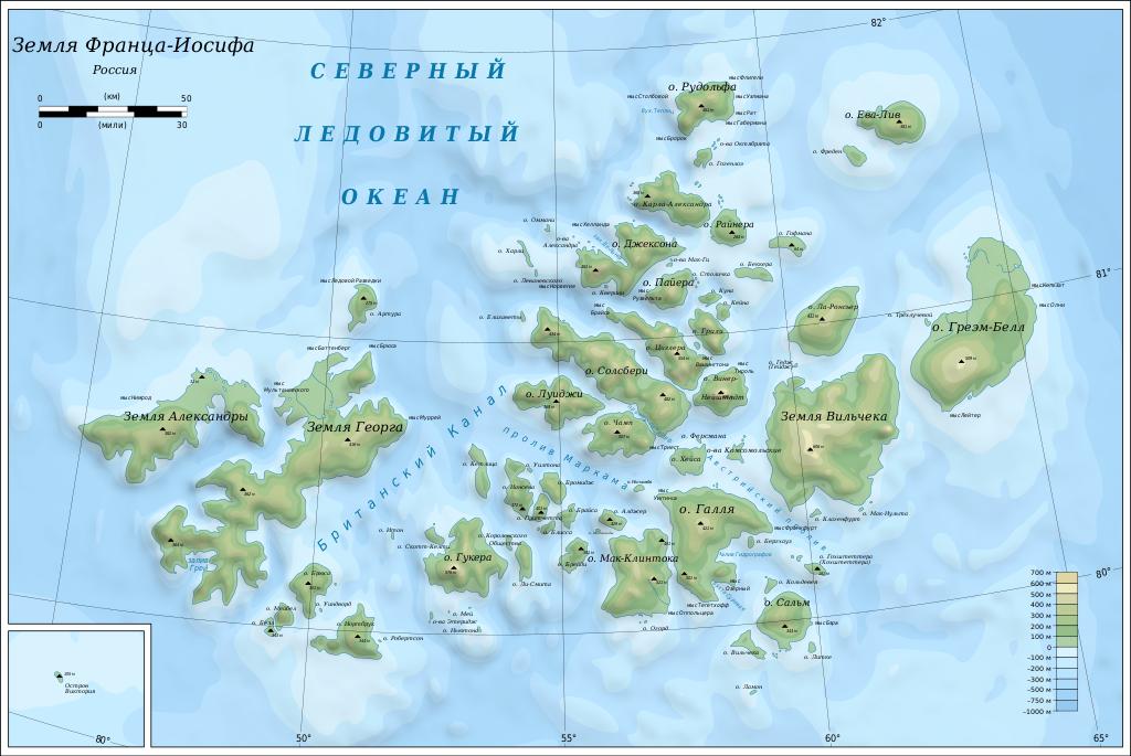 Map of Franz Josef Land-ru.svg
