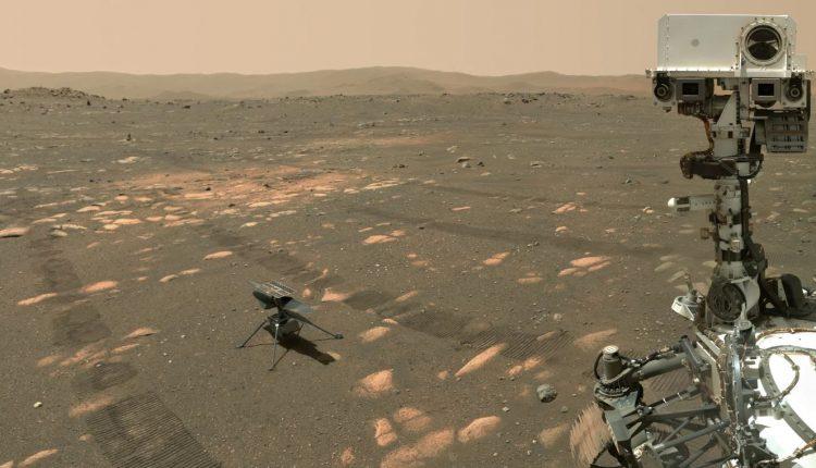 Марсоход НАСА Perseverance сделал селфи с вертолетом Ingenuity