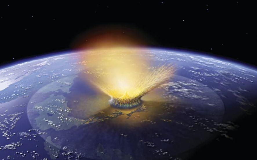 падение гигантского астероида