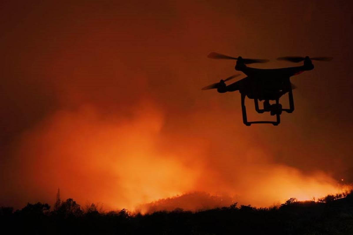дроны против пожаров