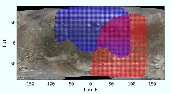 карта ганимеда