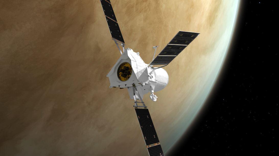 BepiColombo на фоне Венеры