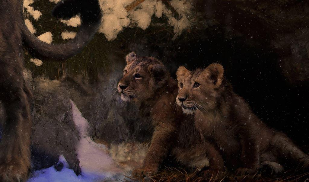 детеныши пещерного льва