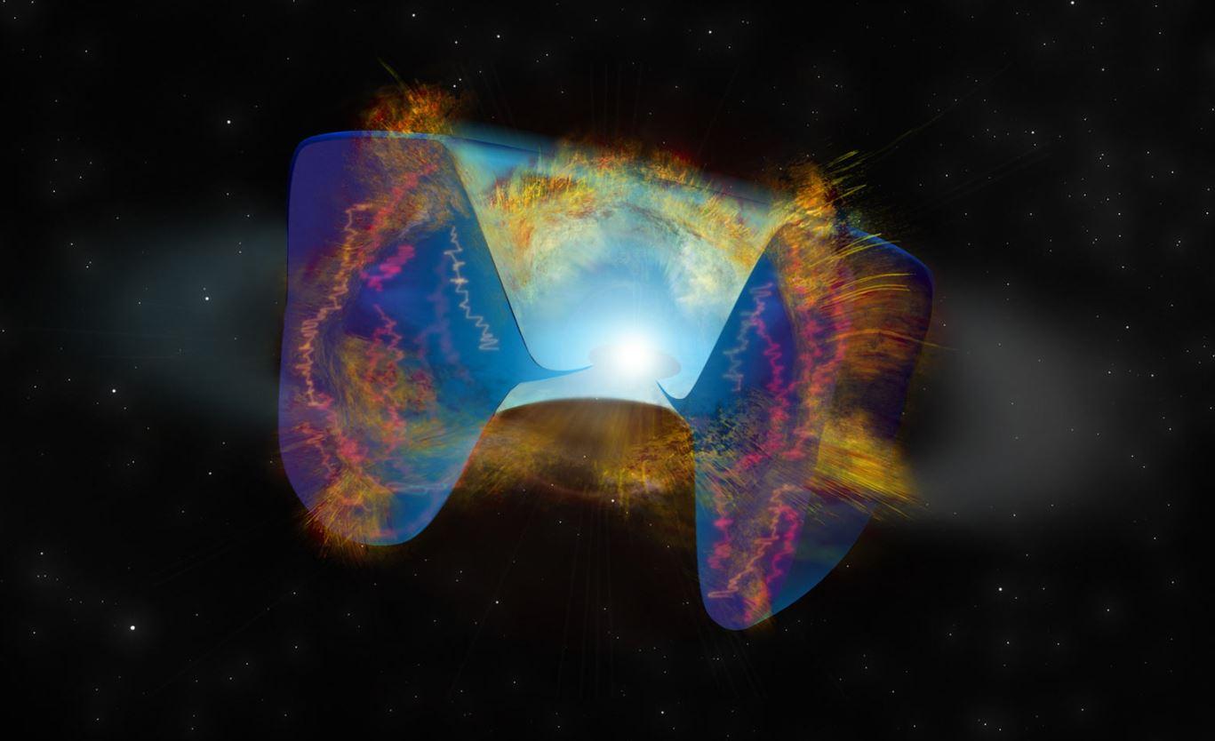 Столкновение компактного объекта с звездой-компаньоном вызвало событие сверхновой