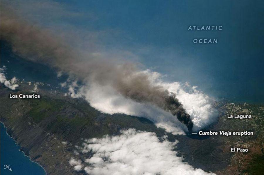 Извержение вулкана Кумбре Вьеха